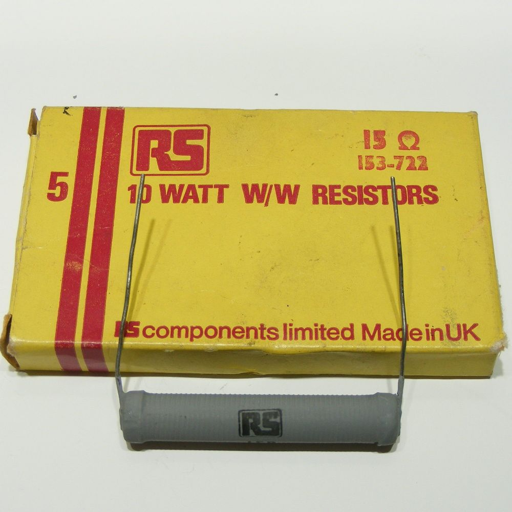 15R 10W RS Wirewound Resistors box of 5